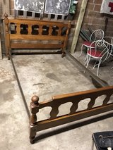 Vintage Solid Wood Maple Full Size Bed Frame in Baytown, Texas