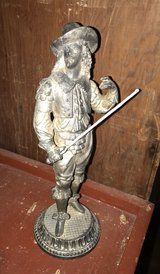 Vintage Solid Brass Pirate Musketeer Statue in Pasadena, Texas