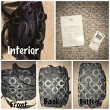 Authentic Coach Diaper Bag (Black) in Chicago, Illinois