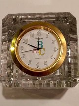 Waterford Crystal ABC Clock for nursery in Chicago, Illinois