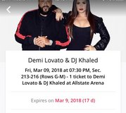 Demi Lovato Concert Tickets (2) in Chicago, Illinois