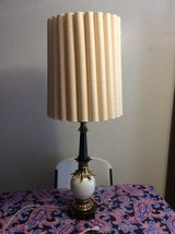 41IN TALL ANTIQUE BRASE HEAVY LAMP WITH GLASS GLOBE in Alamogordo, New Mexico