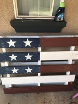Pallet flag in Camp Pendleton, California