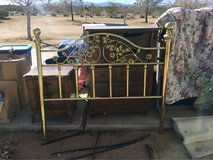 brass headboard in Yucca Valley, California
