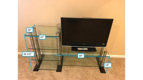 Glass & Stainless Steel Entertainment Center in Bolingbrook, Illinois