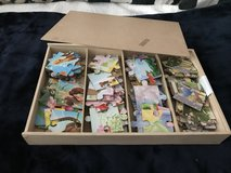 Hard wood Disney princess puzzle set of 4 with storage in Ramstein, Germany