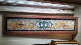 STAINES GLASS TRANSOM CIRCA 1940 in Beaufort, South Carolina