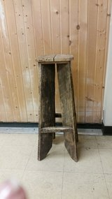 Tall barnwood stools or plant stands(2) in St. Charles, Illinois
