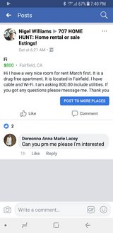 available 3-1-18 in Travis AFB, California