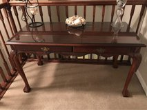 Cherry Desk with glass top in Camp Lejeune, North Carolina
