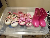 Assorted toddler shoes in Okinawa, Japan