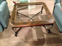 Glass and metal coffee table in Fairfax, Virginia