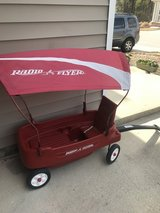 Little red wagon in Fort Bragg, North Carolina