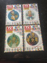 4 Simpsons TV Guides - Holiday with Hologram Ornaments on Each - 2004 in Glendale Heights, Illinois