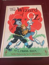 The Wizard of Oz Hardcover Book - 1956 in Glendale Heights, Illinois