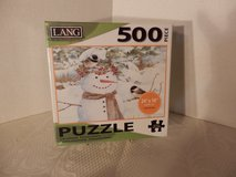 "Sealed 500 Pc. Puzzle ""Chickadee Snowman"" in Naperville, Illinois"