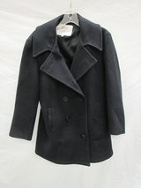 Men's Navy Issued Black Wool Pea Coat Size 36 in Yucca Valley, California