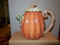 VINTAGE 1989 FITZ & FLOYD PUMPKIN COFFEE/TEA/WATER POT in Conroe, Texas