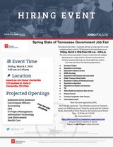 State of Tennessee Government Job Fair in Fort Campbell, Kentucky