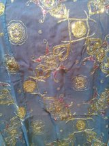 2 Delicate, Detailed, Blue, Gold, Pink, Sari curtain, semi sheer panels, Indian in Glendale Heights, Illinois