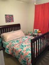 Full size wood bed frame in Fort Drum, New York