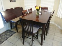Dining Room Table with Chairs and Leaf in Fort Hood, Texas