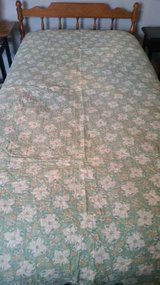 Quilt, Green w/flowers in Naperville, Illinois