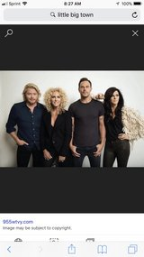 Little Big Town 4 Tickets in section 102 all together in Conroe, Texas