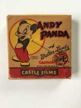 16mm Vintage Andy Panda Cartoon Film in Fort Riley, Kansas