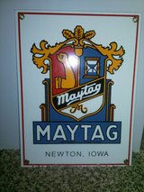 Maytag porcelain sign 30' s in 29 Palms, California