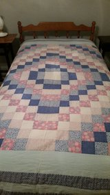 Quilt, blue, pink squares in St. Charles, Illinois