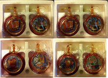 Garfield Heirloom Porcelain Christmas Ornaments - set of 8 in Elgin, Illinois