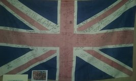 Signed British flags royal air force in Cherry Point, North Carolina