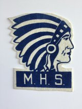 Vintage Manhattan High School Indian MHS Letterman Jacket Patch in Fort Riley, Kansas