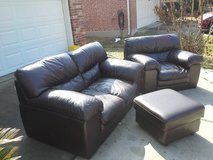 Italian Leather, living room set in Spring, Texas