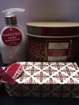 *NEW* Cranberry Spice Gift Set (Bath Salts, Lotion, Bar Soap) in Eglin AFB, Florida