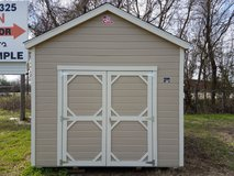 10x12 Utility Shed With LP Smartside Lap Siding in Conroe, Texas