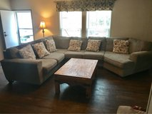 sectional couch beige in The Woodlands, Texas