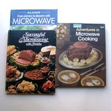 3 VTG Microwave Cookbooks: Alcan, Toshiba, Wards in Glendale Heights, Illinois