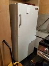 Vintage MCM Philco White Refrigerator with inside small freezer Turquoise interior in Chicago, Illinois