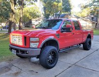 """2008 Ford F250 FX4 Super Duty Crew Cab Power Stroke Diesel Truck 6"""" Life 4 Door Red 4x4 Leather in Kingwood, Texas"""