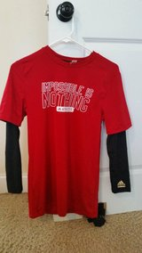 "Men's Adidas Techfit ""Impossible Is Nothing"" Longsleeve Red/Black Size L in Fort Gordon, Georgia"
