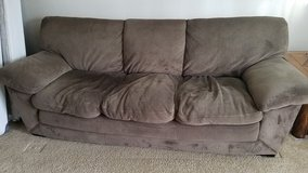Act fast! Microfiber Couch (Free) and chair (offer) in Fort Lewis, Washington