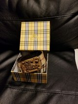 Burberry Gold Leather Belt with Box in Schaumburg, Illinois