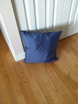 Blue Satin Throw Pillow in Schaumburg, Illinois