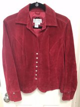 Women's Live a Little Red Suede Leather Jacket in The Woodlands, Texas