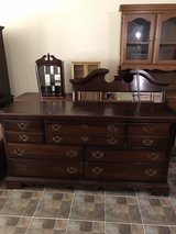 solid wood dresser with mirror in Macon, Georgia