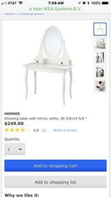 IKEA dressing table. Great condition. Paid $249 originally. Have two to sell. in Aurora, Illinois
