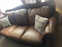 sofa / couch brown leather in Aurora, Illinois
