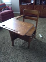 Gorgeous child's oak desk in Travis AFB, California